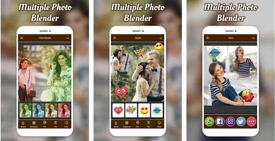 Multiple Photo Blender Double Exposure