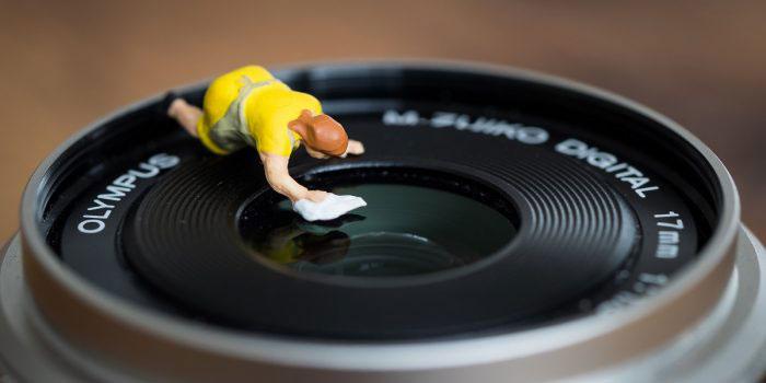 Lensa Kamera Tertutup Kotoran