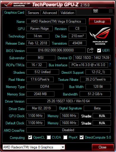 Cek VGA dengan Software GPU-Z