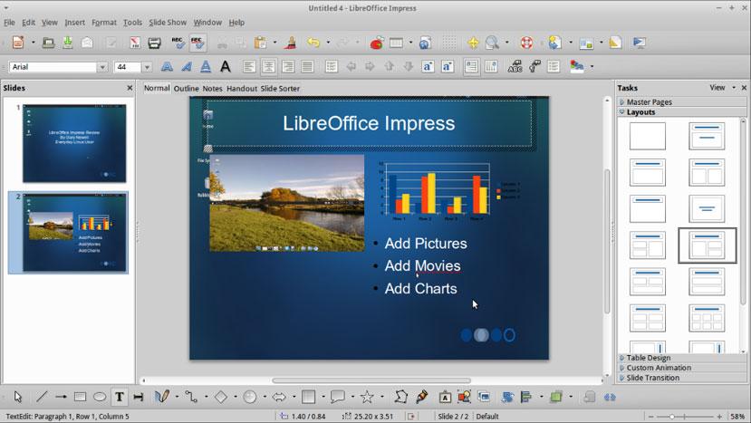 Libre Office – Impress Presentation