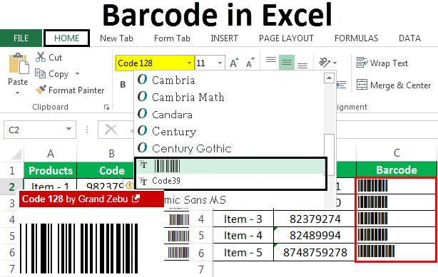 Cara Membuat Barcode Menggunakan Excel