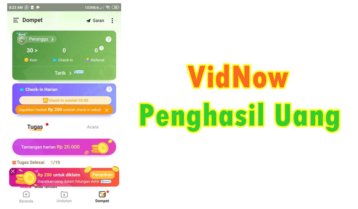Download Vidnow Apk Penghasil Uang Aman Atau Penipuan
